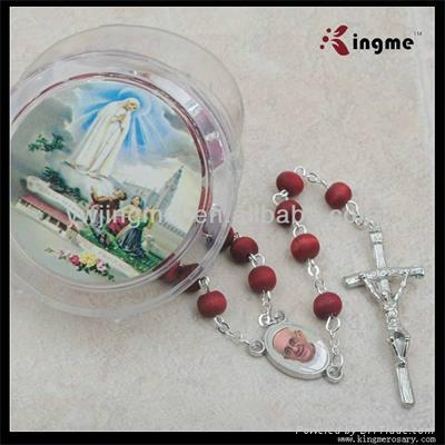 Wooden Rose Scented bead Rosary 5