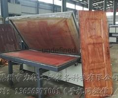 廠家熱銷雙工位鋼質門木紋轉印機