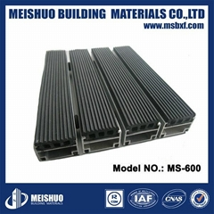 New design Aluminum Dustproof rubber entrance mat for Heavy traffic area