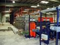 Biaxial geogrid production line and