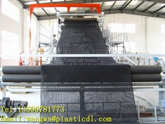 Drainage net production line and