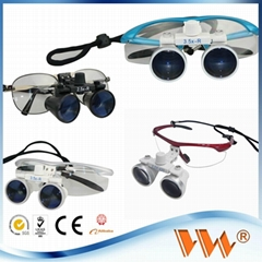 binocular dental surgical loupes with led medical lights dental loupe magnifier