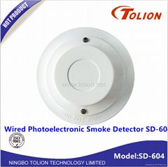 高灵敏消防烟雾报警器 火灾有线烟感 联网光电烟雾探测器SD-604