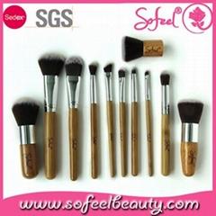 Sofeel 11pcs bamboo makeup brush set