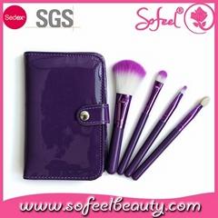 2015 4pcs Gift makeup brush set hot selling cheap price