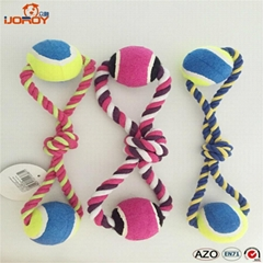 Cotton Rope Dog Toy Pet Toys With Tennis Ball