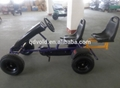 Double seats adult kids pedal go karts 3