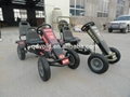 Jeep two seats pedal go karts for kids and adults 4
