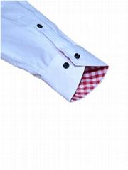 Latest design regular fit button down collar cotton solid men shirt