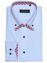 Latest design regular fiit button down collar cotton solid dress formal shirt