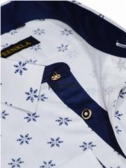 New design regular fit cotton print flower shirt