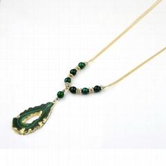 2015  new design natural stone fashion necklace