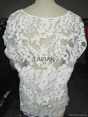 Women's sweet lace poly blouse with high quality