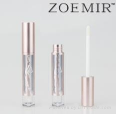 New design lip gloss cosmetics bottle with unique logo decaration
