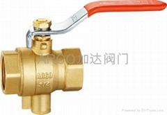 加达流体JD-1058A黄铜测温球阀