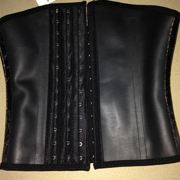 2015 New design wholesale rubber latex waist cincher  1