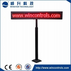 Outdoor RED Parking guidance LED Display for car parking lot available