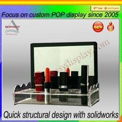 Hot selling acrylic cosmetic makeup organizer display stand