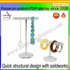 Wood jewelry display stand for sale portable jewelry showcase