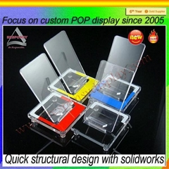 Acrylic Mobile Phone Holder Shop Retail Display Stand