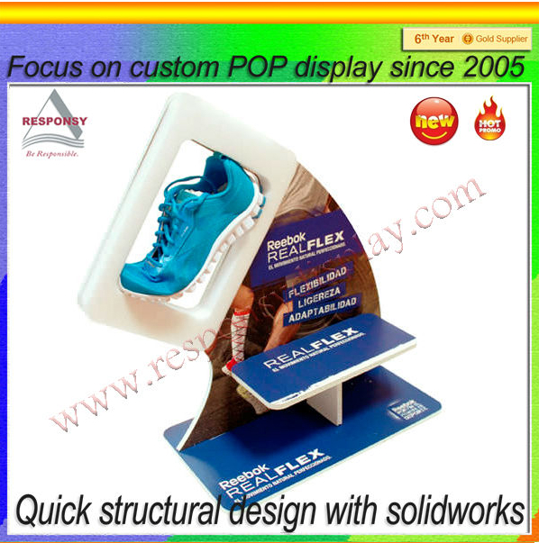 Professional factory manufacturer clear acrylic shoe display stand 1