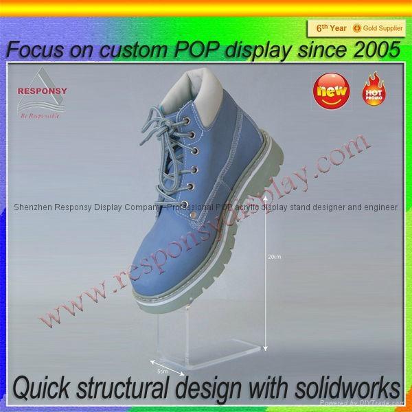 New product acrylic display shoe display stand 5