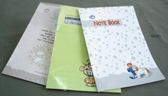 Note book with soft cove