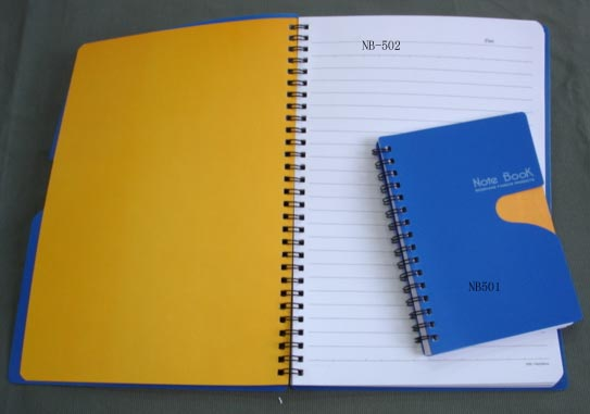 Spiral note book with PP cover 1