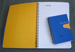 Spiral note book with PP