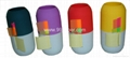 Pill shape pen holder with sticky notes