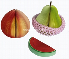 Fruit shape memo pad
