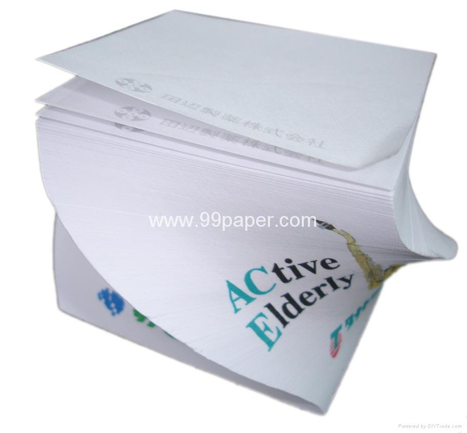 spiral note cube/note cube/memo cube/paper cube