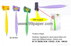 Flowers shape ball pen w