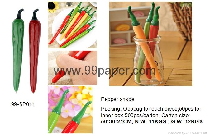 pepper shape ball pen