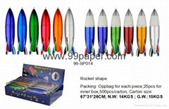 Rocket shape ball pen