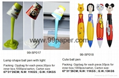 cute lamp shape ball pen