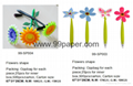 Flowers shape ball pen with magnet