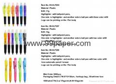 Shaped highlighter pen