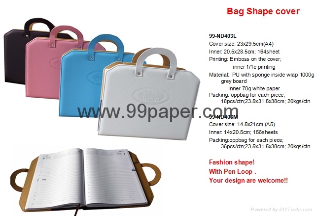 Diary wtih Bag shape cover 1