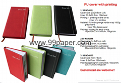 Cheap diary with PU cove