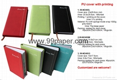 Cheap diary with PU cover