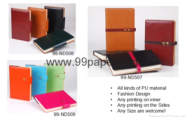 PU cover diary notebook