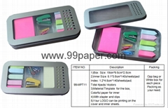 memo pad with timplate box