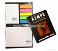 Sticky notes with PET index and hard cover
