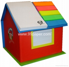 House shape memo pad