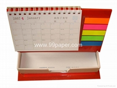 Memo pad with holder and Calendar