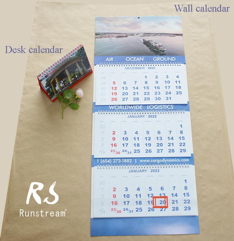 99WC-001 Wall calendar&Desk calendar