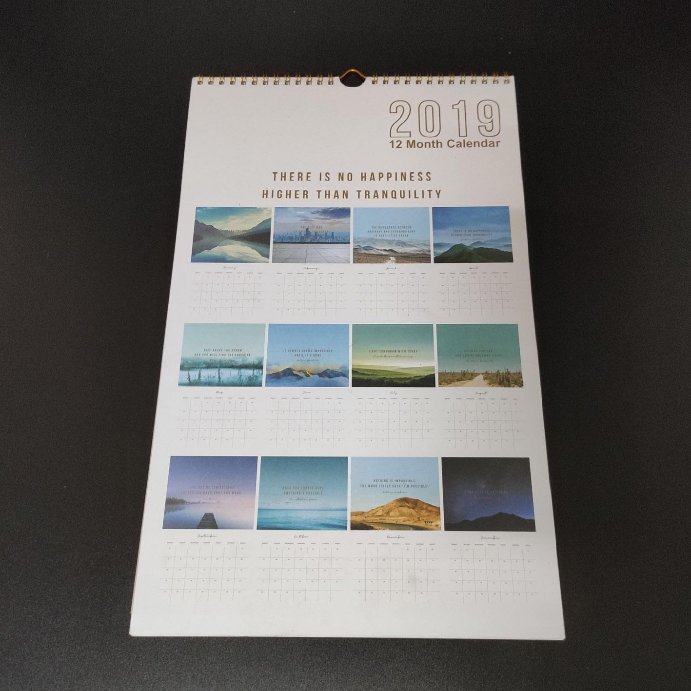 Wall calendar high quality 99-BC-107