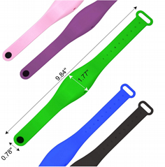 Hand sanitizer bracelet, Silicone material wristband colorful with empty bottle
