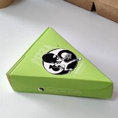 Triangle pizza box
